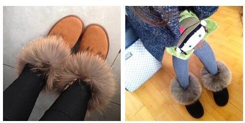 doprava zdarma z pravé kůže liščí kožešinou nové zimní boty dámské módní  kozačky více barev zimní teplé velikostí bot 35 42-in Dámské boty od bot na  ... 7d53bec10f