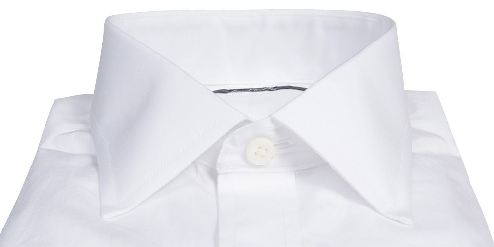 b8d32d6f047 Canclini White Broadcloth Fitted Shirt by Proper Cloth