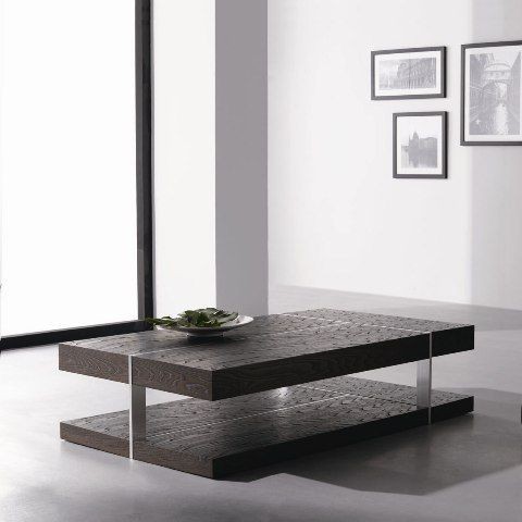 Modern Dark Wood Coffee Table