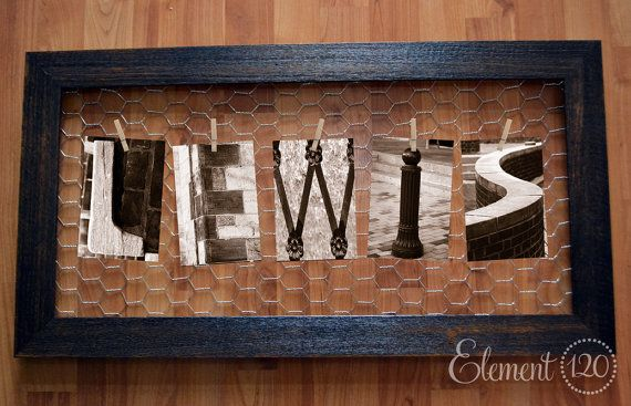 Alphabet Photography Name Frame with customized display, Wire Memo ...