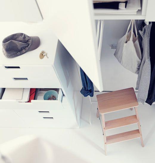 Ikea österreich Bekväm Trittleiter Aus Buche Mit Stuva Aufbewahrung