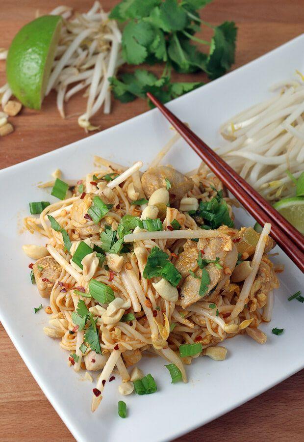Keto Chicken Pad Thai Receta Low Carb Recipes Pinterest Maquillaje