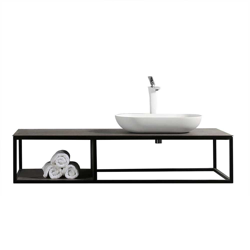 Loft Wand Waschtisch Aus Metall Mit Aufsatz Waschbecken Smernov In 2020 Waschtisch Waschbecken Bad Waschtisch