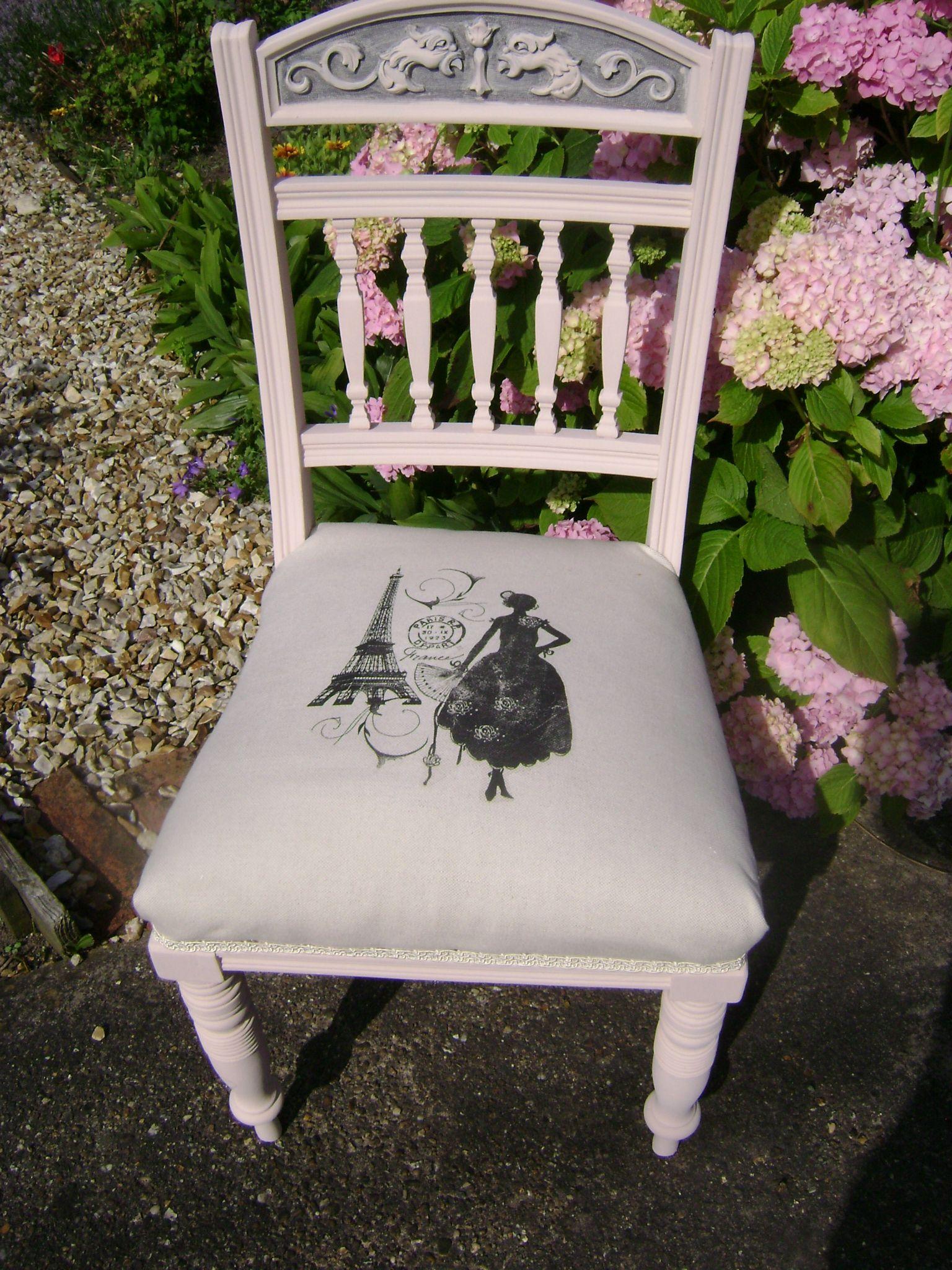Edwardian Chair painted in Autentico Vintage Chalk Paint ...