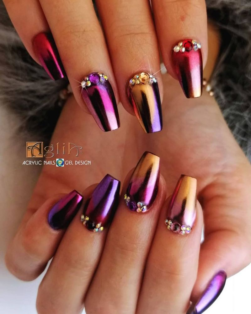 60 Classic Chrome Nail Art Designs For Winter Chrome Nail Art Chrome Nail Art Designs Nail Art Designs For Winter