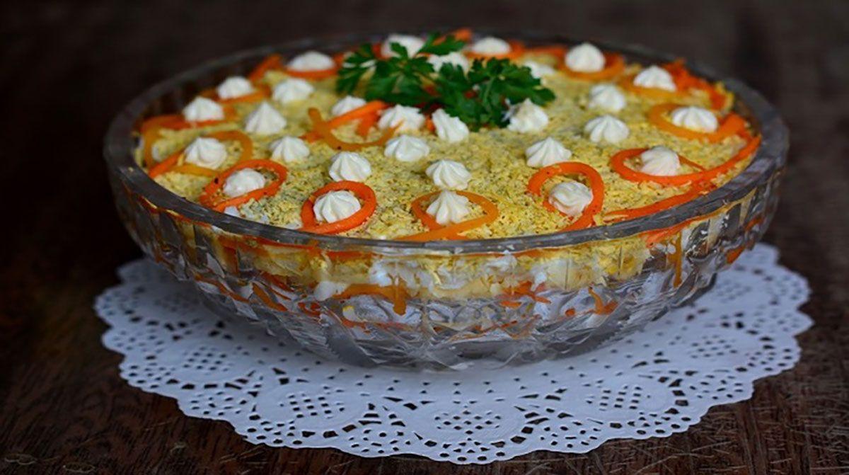 """Salata """"Bonito"""" va cuceri orice bărbat prin gustul său extraodinar și aspectul frumos. Salata este foarte simplă și se prepară rapid, astfel o puteți servi pe mesele de sărbătoare, la diverse evenimente sau în sânul familiei. Combinația de ingrediente este armonioasă și foarte delicioasă, salata este foarte consistentă, de aceea poate fi servită și ca …"""