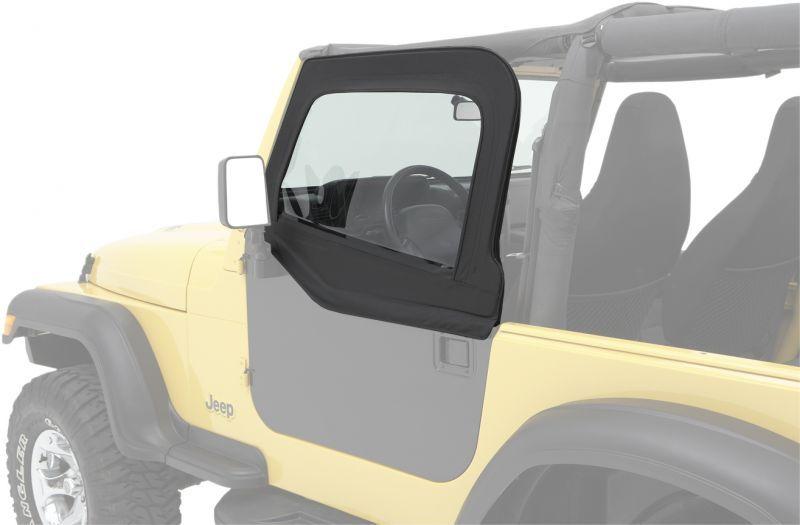 Bestop 51793 35 Highrock 4x4 Element Upper Doors For 97 06 Jeep Wrangler Tj Unlimited Jeep Jeep Wrangler Tj Steel Doors