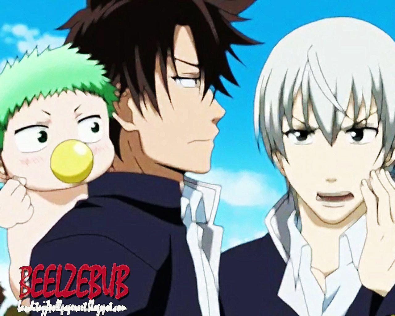 Baby Beel, Oga, & Furuichi Beelzebub Pinterest Babies