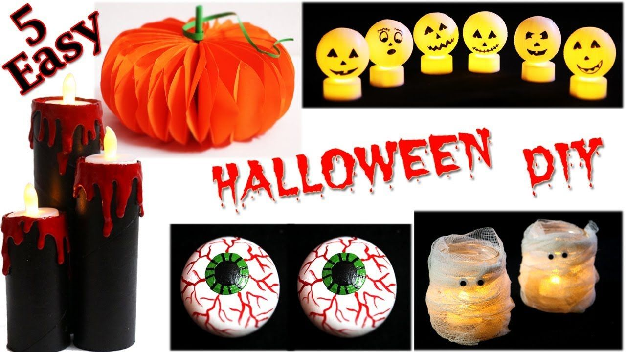 DIY Halloween Decorations 5 Easy Halloween Crafts Little - halloween decorations diy