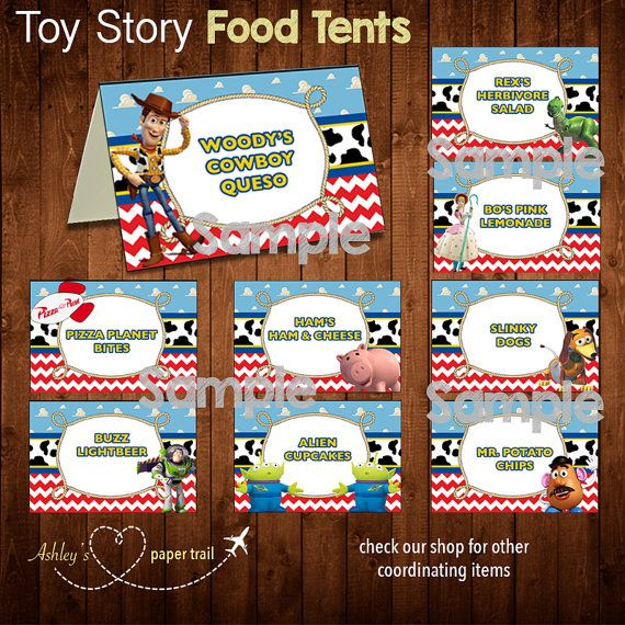 TOY STORY Food Tents and/or Place Cards Digital File