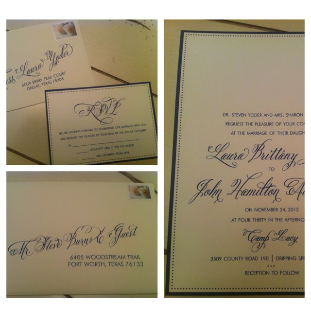 Loving our invitations. Thanks to Marsha at thethree.co!
