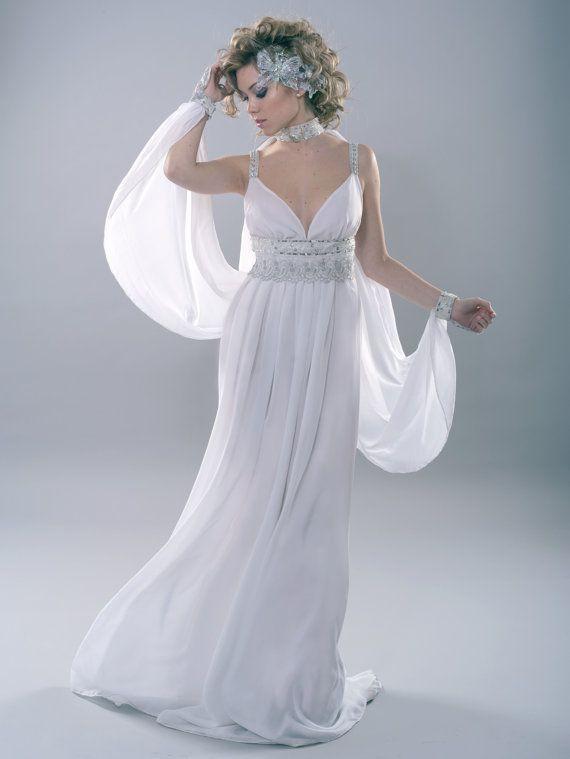 Moon Goddess Fantasy Costume Pagan Wedding Handfasting Wicca