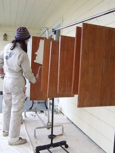 Painting Cabinet Doors Hanging