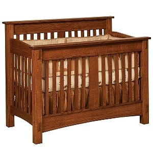 Genial USA Made Amish Non Toxic Baby Nursery Furniture : Amish McCoy 4 In 1  Convertible Baby Crib :: Baby Eco Trends