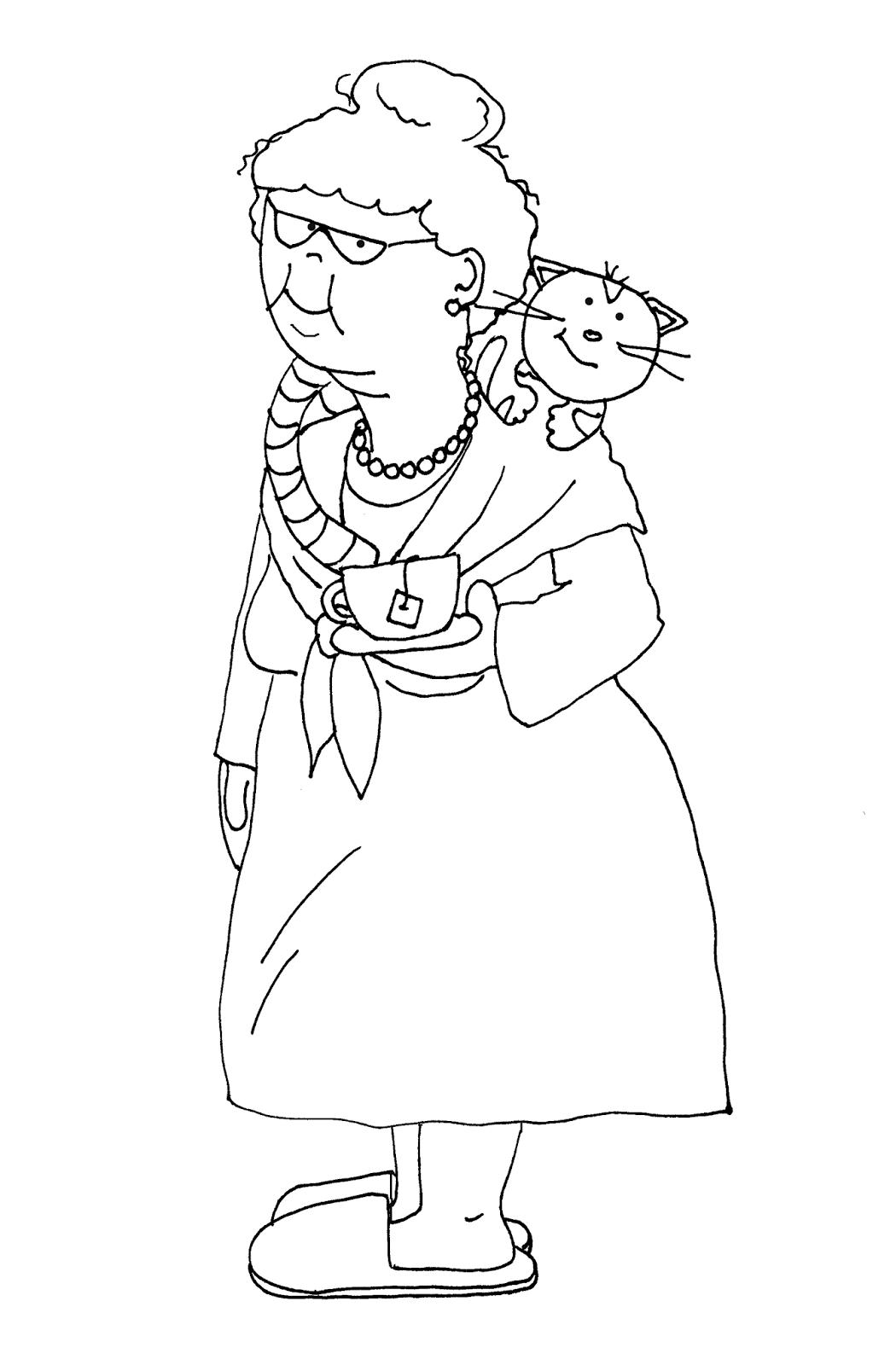 Раскраска бабушке