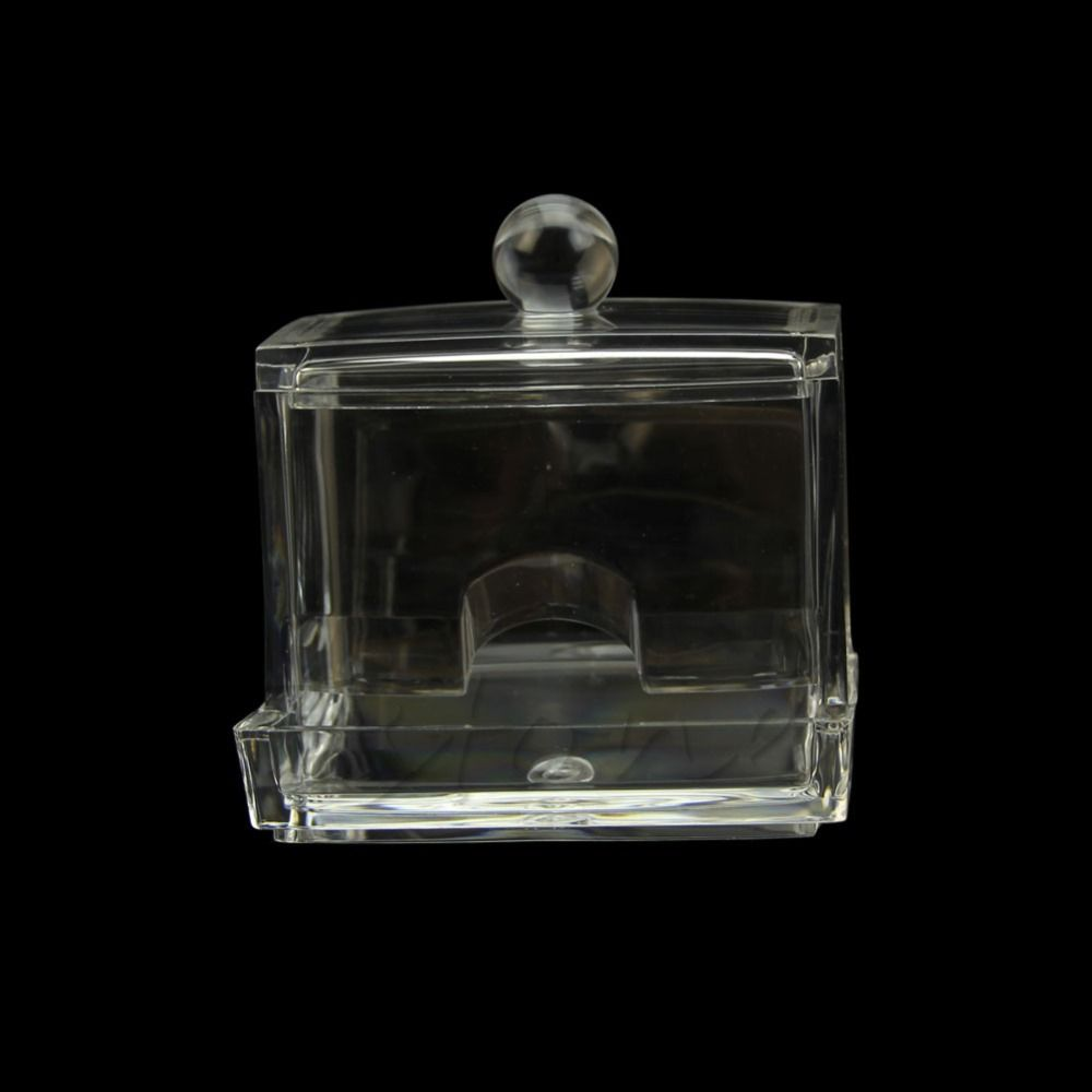 HF Clear Acrylic Q-tip Holder Cotton Swabs Stick Box Cosmetic Makeup Storage  New