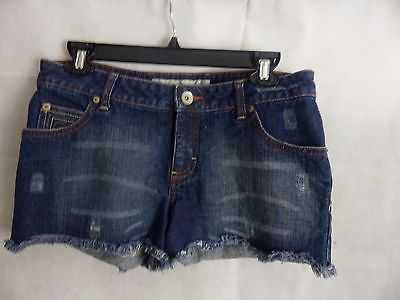 Mossimo Distressed Denim Cut Off Short Shorts Size 9