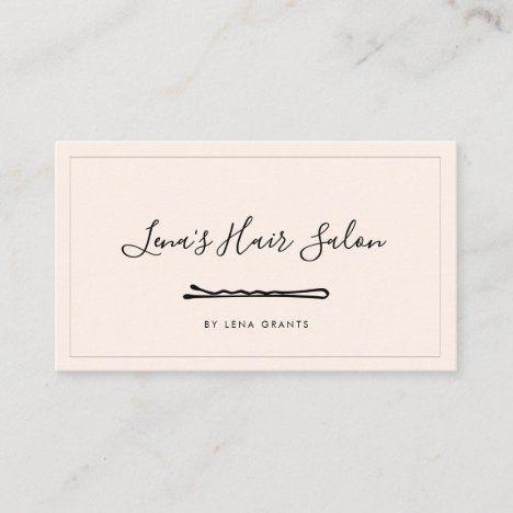 Simple Minimalist Hairpin Hair Stylist Business Card Zazzle Com Hairstylist Business Cards Stylist Business Cards Hair Stylist