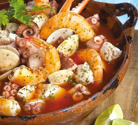Cazuela de mariscos recetas de mariscos pinterest for Cocinar 7 mares