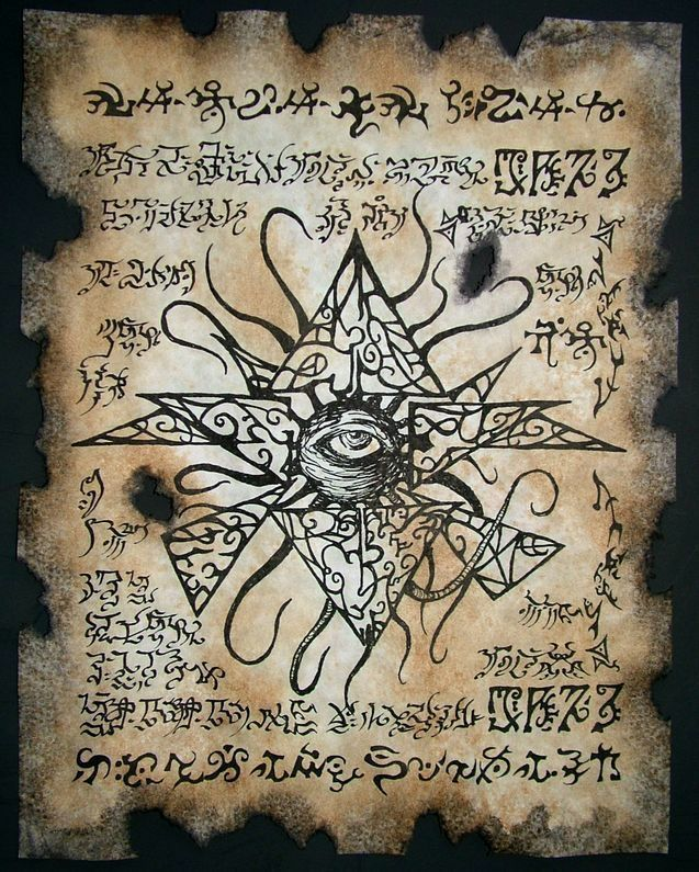 Cthulhu LARP Prop Azathoth Necronomicon Lovecraft Arkham