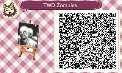 Zombies The Walking Dead Qr Codes Animal Crossing Animal
