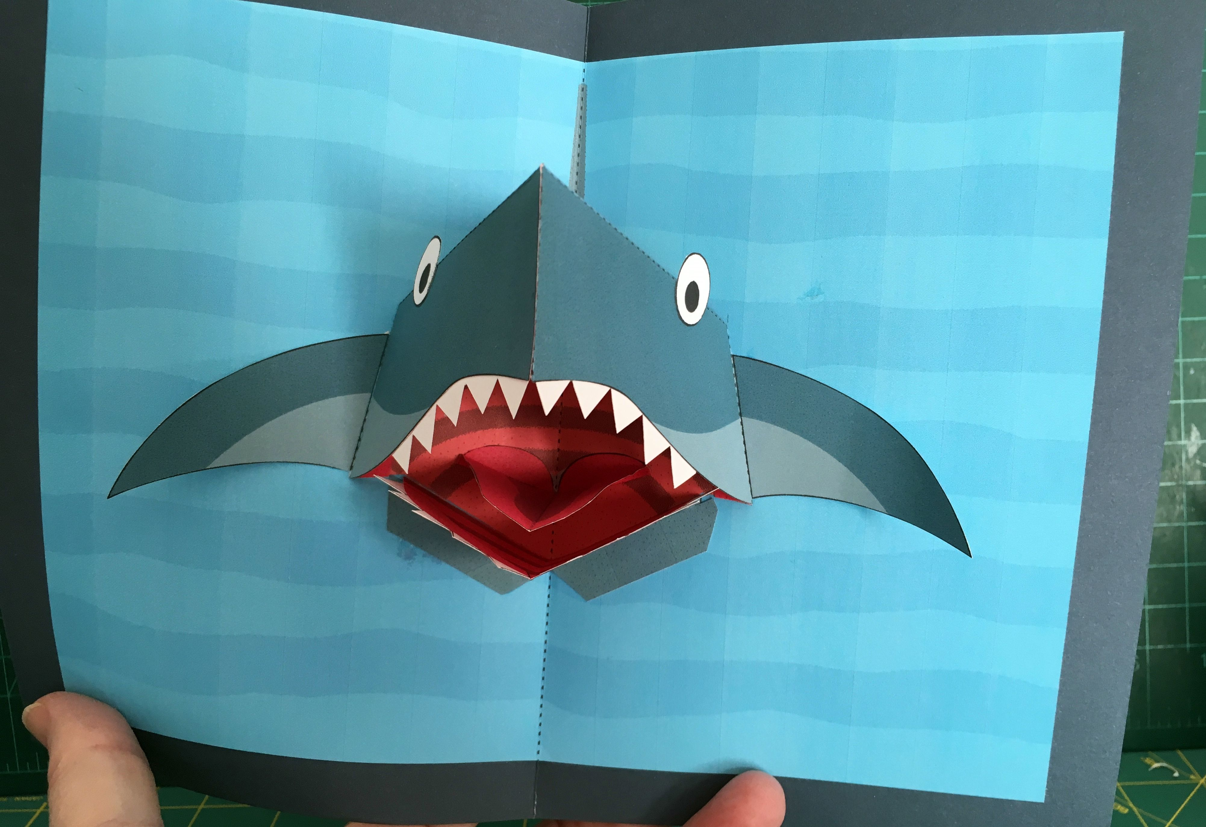 Shark Pop Up Card (Template From Httpwwwrobives