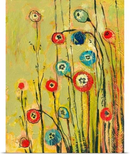 Jennifer Lommers Poster Print Wall Art Print entitled Hidden Poppies ...