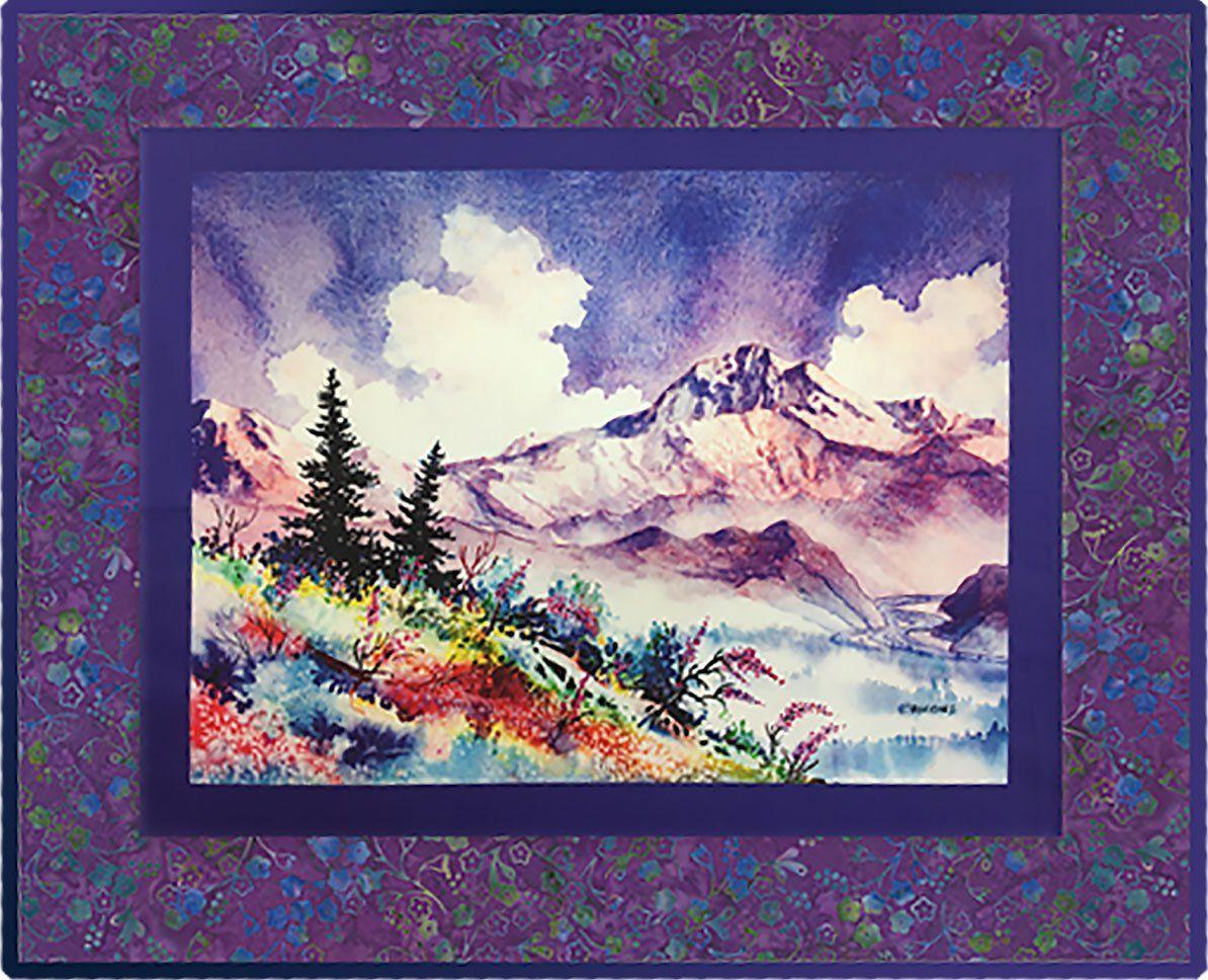 Denali Summer Fabric Panel Landscape Quilts Art Quilts Art Impressions