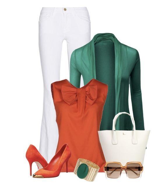 Naranja / verde / blanco