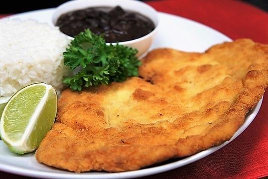 this is a cuban classic in spanish it s called bistec de pollo empanizado translation breaded chicken steak thi breaded chicken cuban recipes chicken steak pinterest