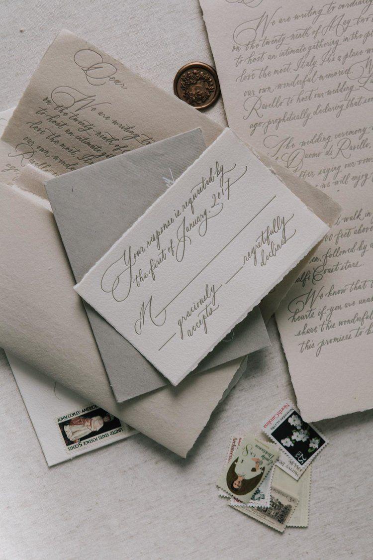 Letterform invitation suite LOVE! Written Word