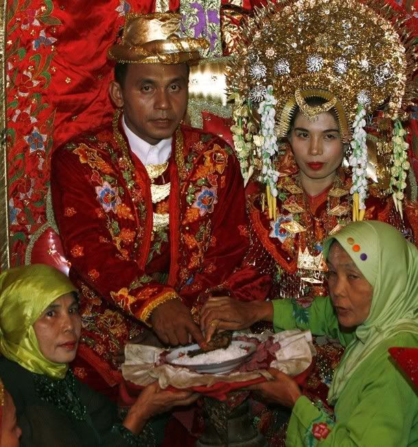 traditional wedding ceremony in Pariaman, Indonesia's West