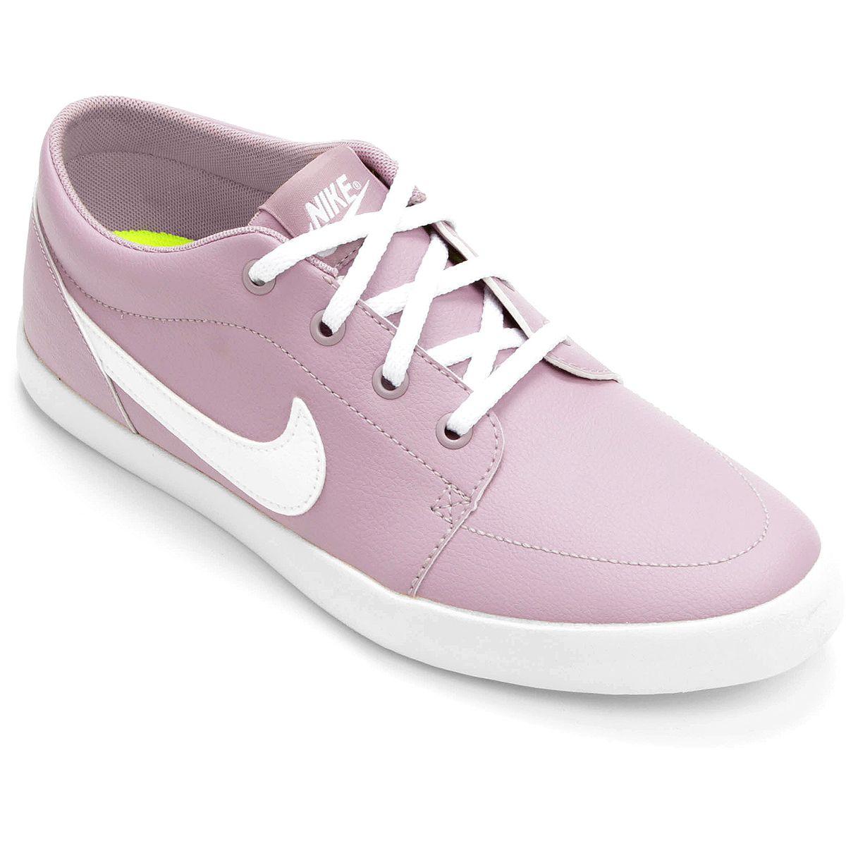 fd88977baf19d Tênis Nike Futslide Sl Feminino - Rosa e Branco | Tênis | Nike ...