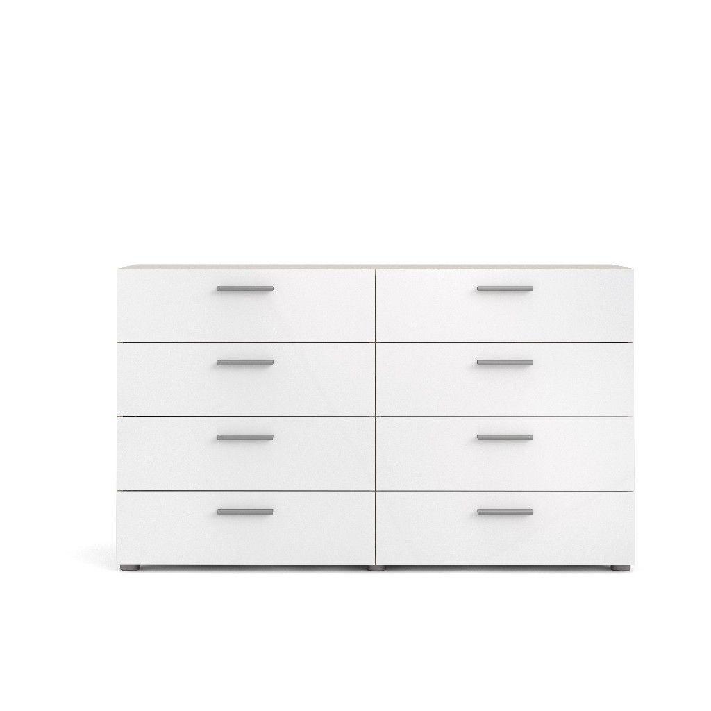 Austin 8 Drawer Double Dresser In Oak Structure And White High Gloss Tvilum 70073akuu Double Dresser Tvilum Unique Dresser [ 1024 x 1024 Pixel ]