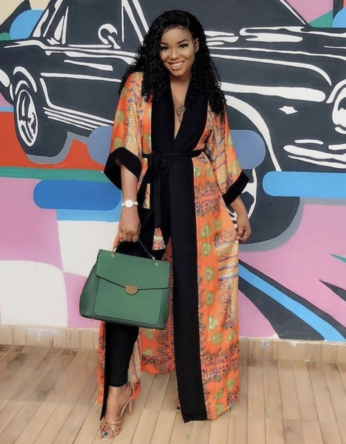Buy African Ankara kimono, long print shirt dress, African long shirt Online at Afrizar