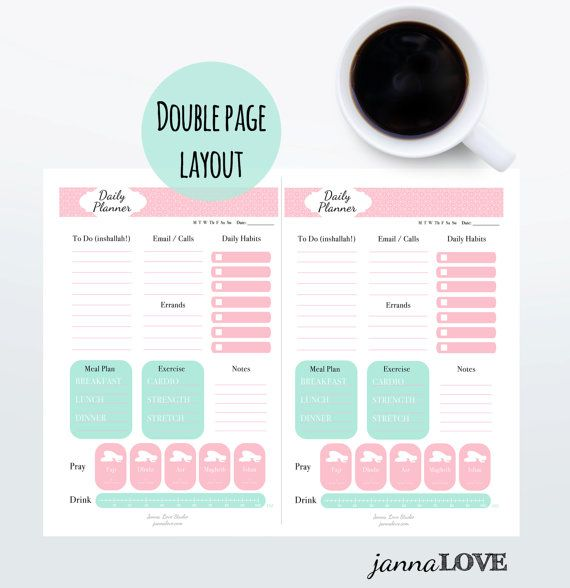 muslim will template - day planner printable islamic journal with to do list