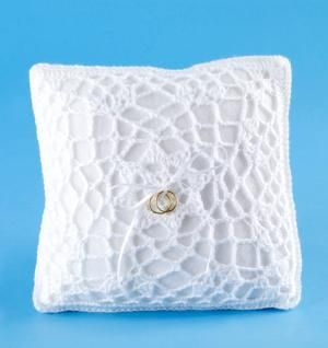 DIY Wedding Ring Bearer Pillow DIY Free Crochet Pattern Ring