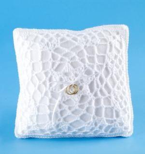 DIY Wedding Ring Bearer Pillow DIY Free Crochet Pattern Ring