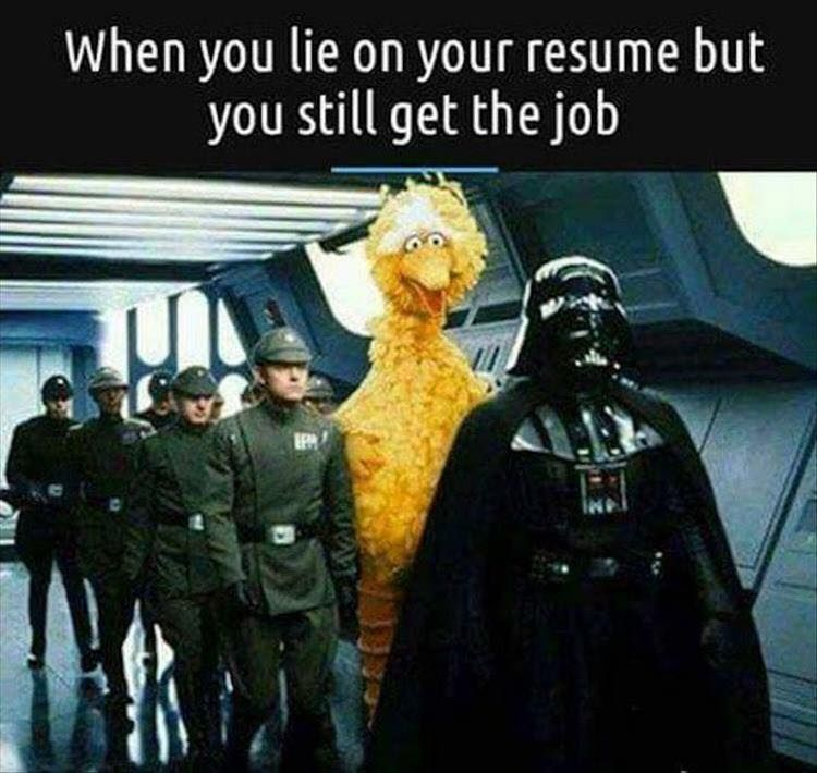 When You Lie On Your Resume Very Funny Pictures Funny Pictures Funny Memes