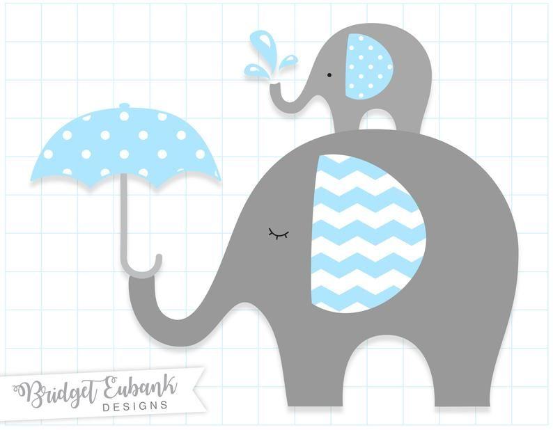 Elephant clipart Baby elephant clipart Elephant clip art | Etsy