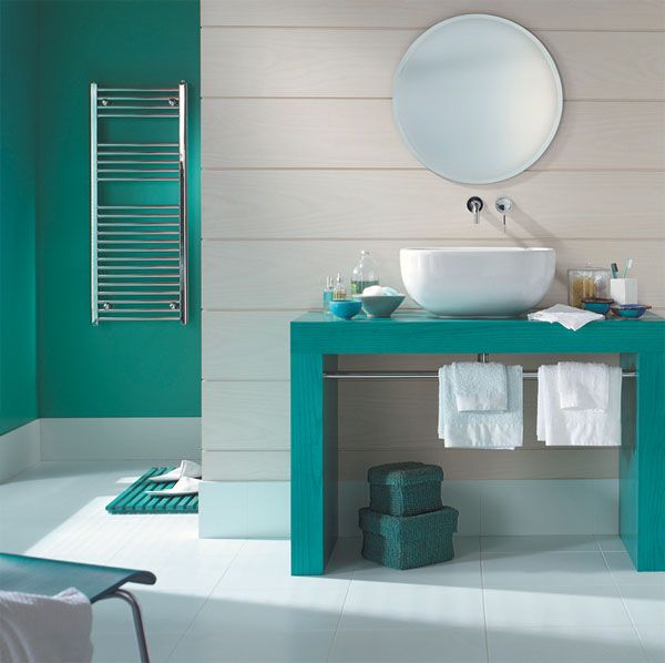 tendance une salle de bain en turquoise cozy place and cozy. Black Bedroom Furniture Sets. Home Design Ideas