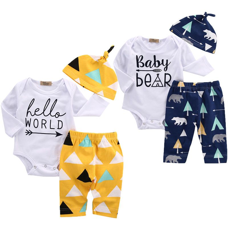6d01641f8a3e Click to Buy    Infant Baby Girl Boy Clothes Bear Cotton Romper ...