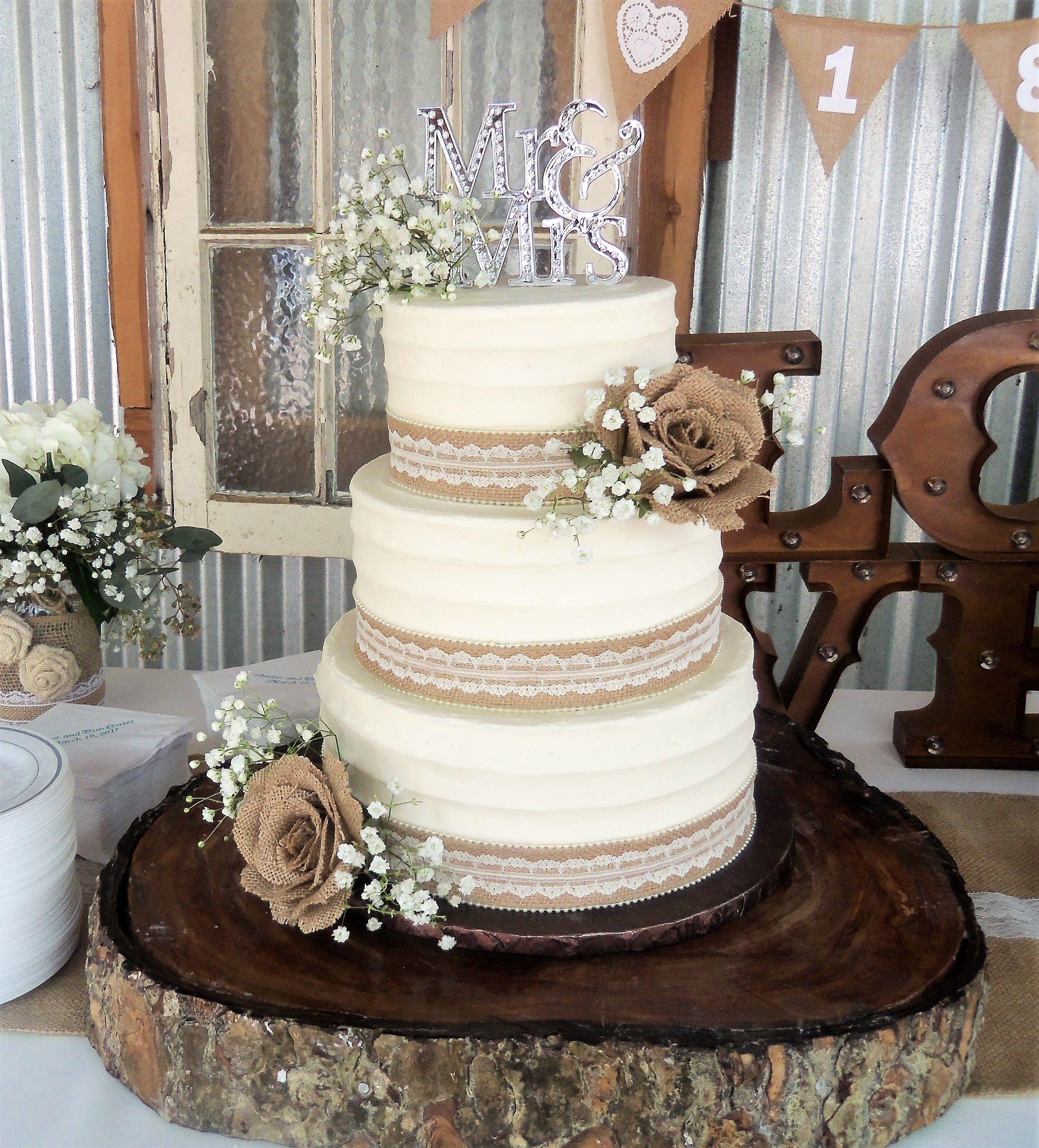 Burlap Wedding Cakes Jute Cake Mudding Canvas