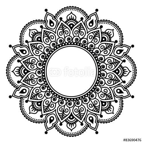 """mehndi indian henna tattoo pattern or background"" stock"