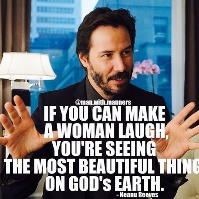 Keanu ❤️VAVAVOOM MY LOVE What more do you need in life? Bikes, Beer, Cuddle #chivalryquotes