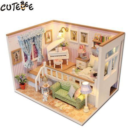 Aliexpress Acheter CUTEBEE Maison de Poupée Miniature BRICOLAGE
