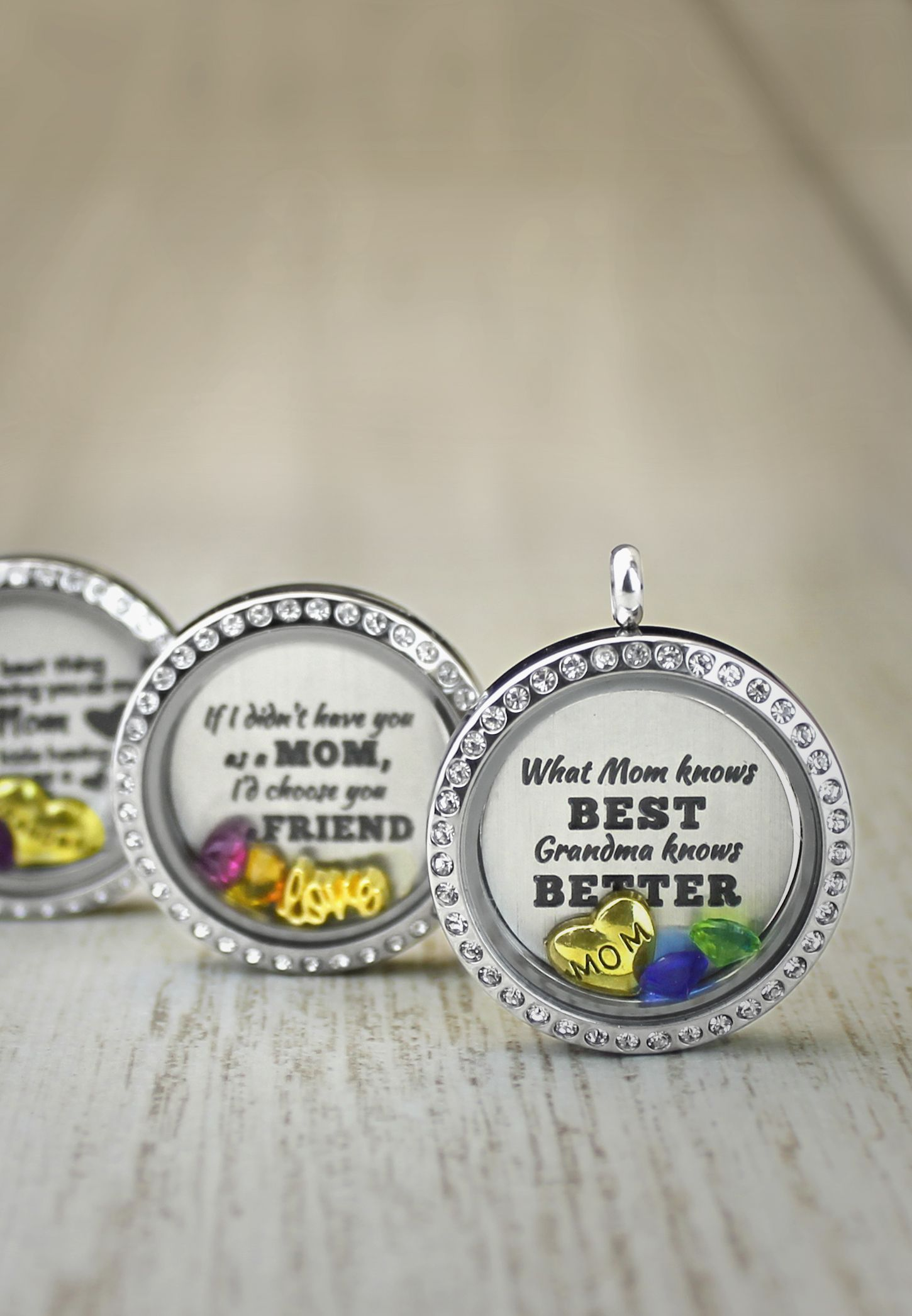 necklace grandma locket floating charm lockets