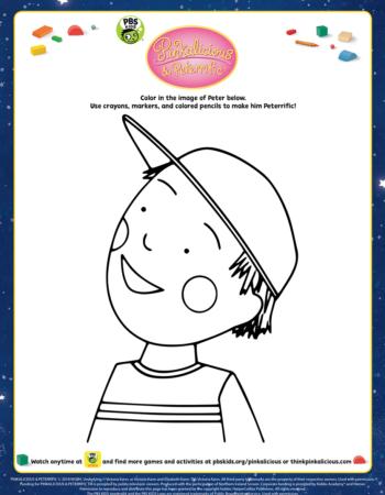 Peter Color Pinkalicious Activities Pinkalicious Pbs Kids