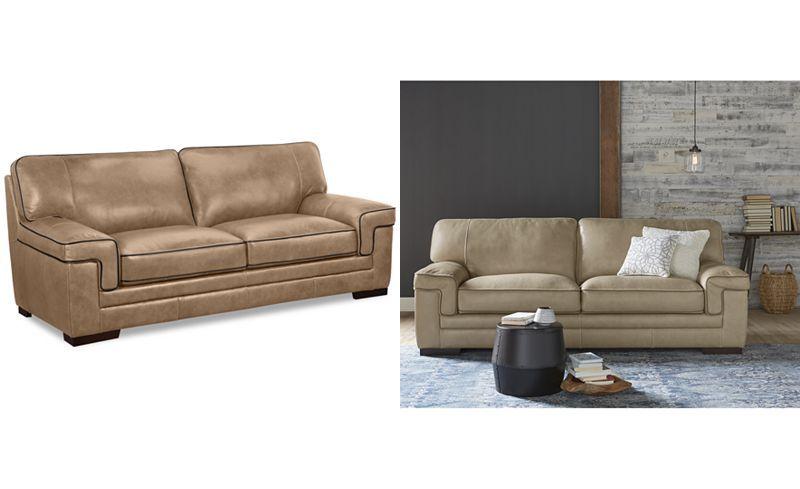 Groovy Myars Leather Sofa Couches Sofas Furniture Macys Creativecarmelina Interior Chair Design Creativecarmelinacom