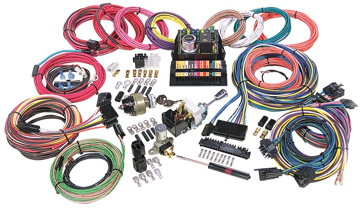 hight resolution of 1954 1976 cadillac wiring harness kit highway 15 by american autowire opgi com